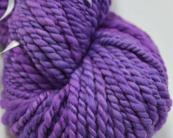 Australian Merino Wool Chunky Yarn Knitting Crocheting Weaving Dolls Hair Felting Wool Spinning Purple 11942