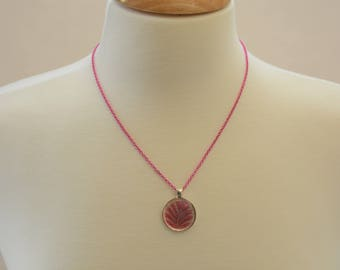 Pink Medallion Pendant Necklace