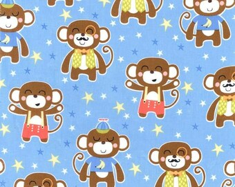 Chimp Daddy - Michael Miller Fabrics - 1 Yard