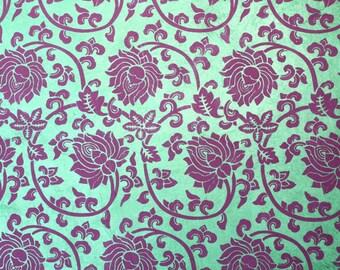 Loktapapier Lotus Flower Green Violet