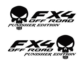 NEW Ford F150 2015-2017 Punisher Overlay Emblem Decal-Sticker