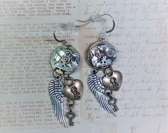 Steampunk jewelry/Steampunk Costume/Steampunk Earrings/goth jewelry