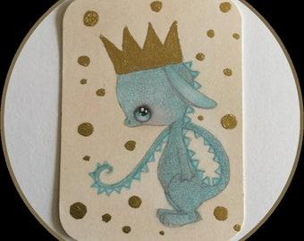 Original art Atc/aceo Little Prince fantasy lowbrow art