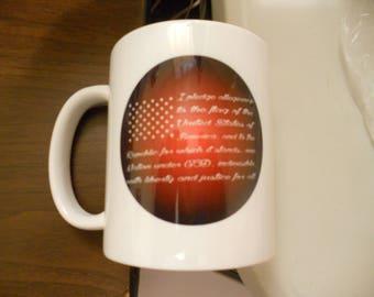 the pledge  coffee cup