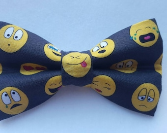 Emoticon hair bow/ boys bow tie/ dog bow tie