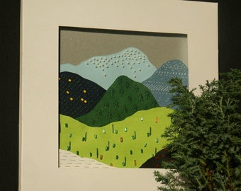 """Papercraft """"Hills and Mountains"""""""