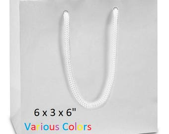100 9x3x7 Bags With Handles Matte Laminate Wedding