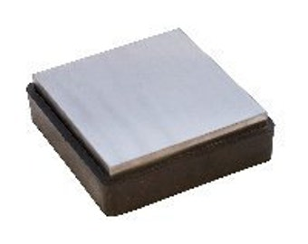 Rubber/Steel Bench Block-4 x 4-Great New Larger Size- Jewelry Tools for Metal Work
