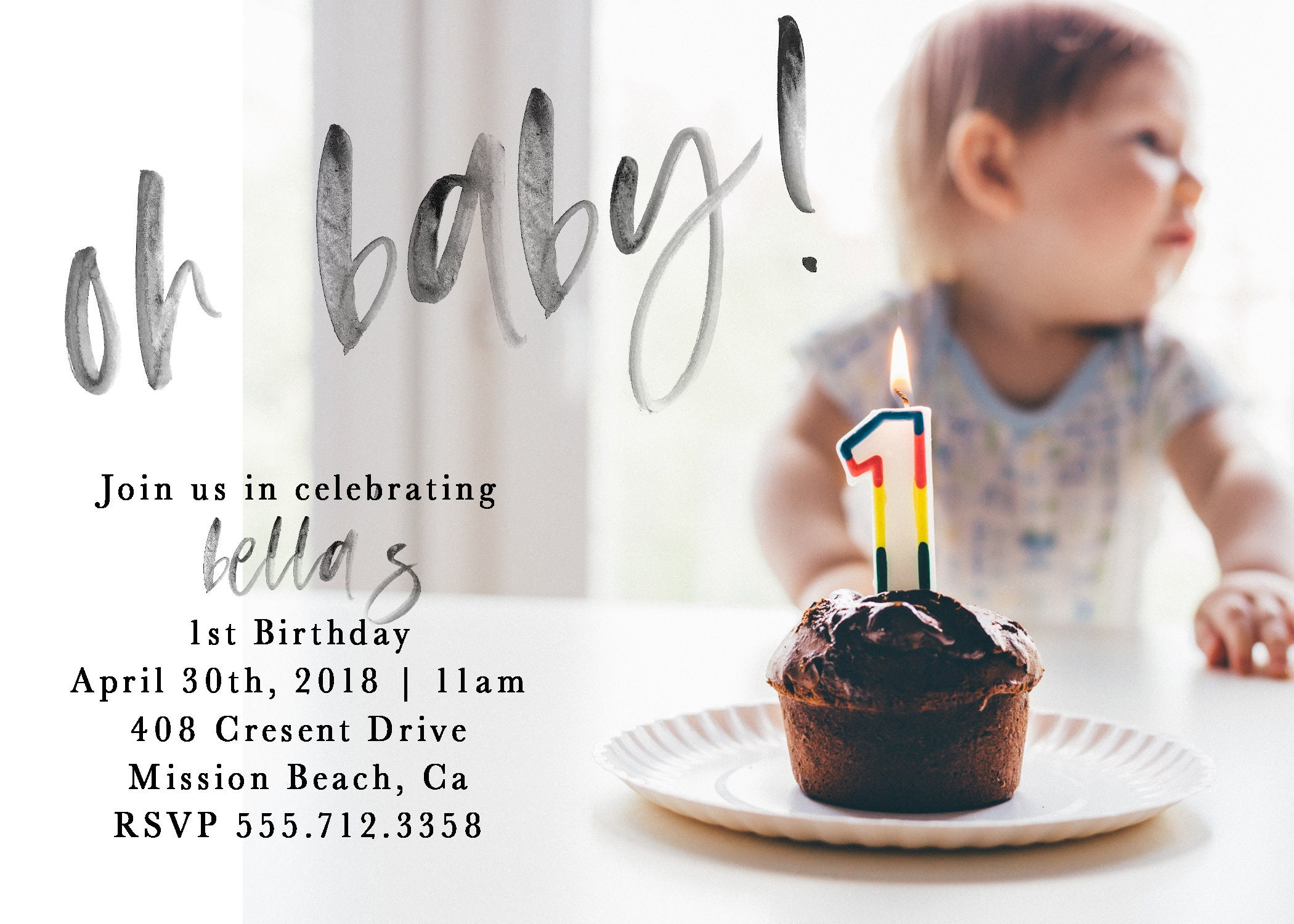 Personalized first birthday invitation 1st birthday birthday personalized first birthday invitation 1st birthday birthday invitation baby girl baby boy girl first birthday boy first brithday filmwisefo