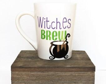 Witches Brew Mug l Halloween l Gift l Festive l Funny l Fall l October l Autumn l Boss l Coworker l Wife l Mom
