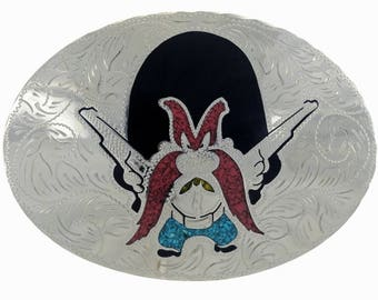 Cartoon Belt Buckle Inlaid Yosemite Sam