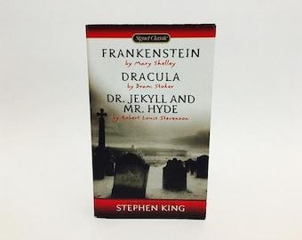 Frankenstein / Dracula / Dr. Jekyll and Mr. Hyde Signet Edition Vintage Horror Paperback Book