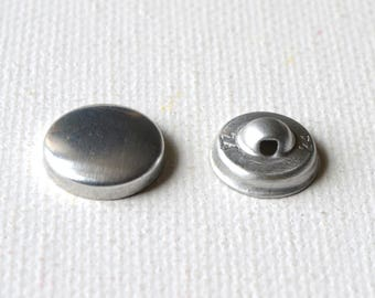 Round buttons cover diameter 17 mm set of 10