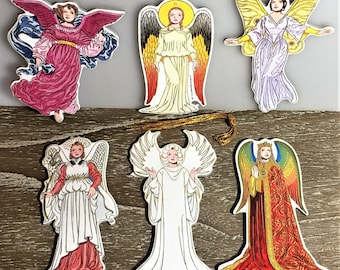 Pkg of 6 RENAISSANCE ANGEL s Christmas Tree ORNAMENT s by Artist Tom Tierney Rare Mint/Factory Sealed Shackman