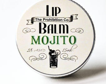Mojito Lip Balm, Lip Repair by The Prohibition Co. Mother's Day Gift!