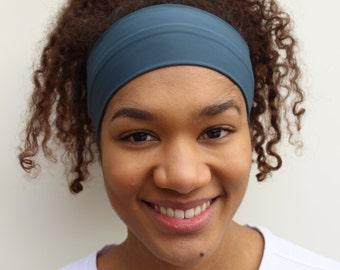 Headbands for Women: Grey Headband, Yoga Headband, Wide Headband, Running Headband, Workout Headband, Fitness Headbands, Non Slip Headband