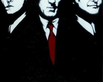 8.5x11 GoodFellas (Ray Liotta, Robert De Niro, Joe Pesci) Stencil Art Print