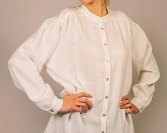 Oversized Pure Linen Shirt for Women