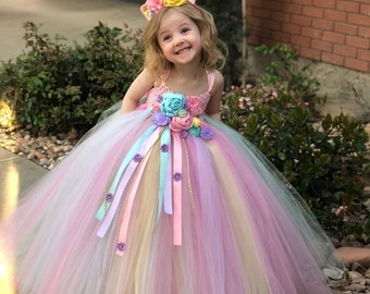 unicorn tutu dress unicorn birthday dress unicorn horn unicorn outfit birthday dress