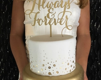 Always and Forever Cake Topper, Forever Cake Topper, Wedding Cake Topper, Gold Cake Topper, Silver Cake Topper, Rose Gold Cake Topper