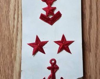 Vintage Middy Midshipmen Navy Embroidered Emblems