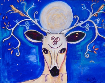 Reindeer Goddess - Pagan Goddess Art