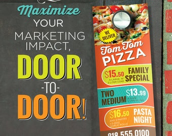 """3.5"""" X 8.5"""" 16PT Door Hangers with AQ - Full Graphic Design and Printing"""