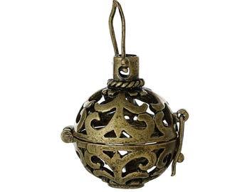 Cutwork Antique Bronze Angel Caller Ball (2142)
