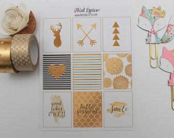 GP 001 Gold stickers, ECLP, planner accessories