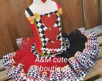 Queen of hearts tutu set