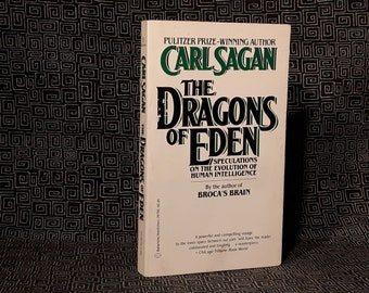CARL SAGAN The Dragons Of Eden Paperback Book Evolution Of Human Intelligence COSMOS Author, 1981