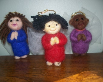 Inspirational Felted Angels