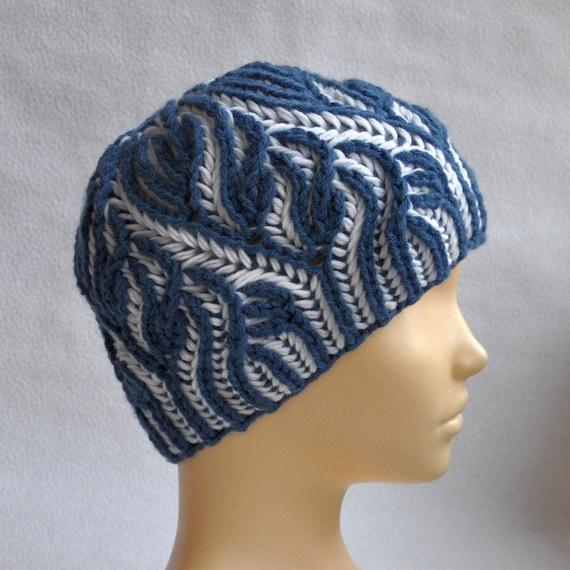 Knitting Pattern Brioche Hat Brioche Stitch Scheme Beanie In The