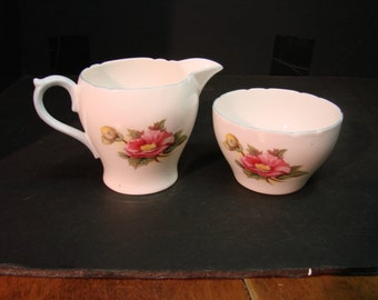 SHELLEY Bone China Cream & Open Sugar Set  BEGONIA