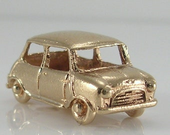 Vintage 3D 9ct Gold Movable Mini Car Charm.H/MK 1978    6.1g