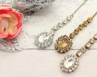 Small Gold Silver Stone Indian Bollywood Tikka Headpiece Maang Tikka for Bridesmaids Flower Girls Weddings