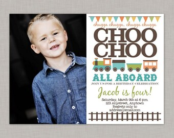 Train Birthday Invitation,Train Invitation,Train Birthday Party Invitation,Train Birthday Invitation Digital,Train Invitation Printable