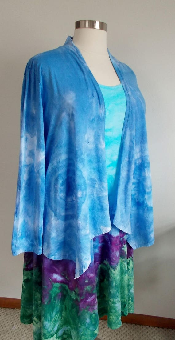 Cotton Ice dye tie dye Swing Dress and Jacket