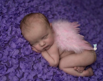 Pink Feather Wings, Angel Wings, Newborn Photo Prop, Angel Baby, Baby Girl Prop, Photography Prop