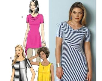 Butterick B6058 Misses' Seam-Detail Tunics Sewing Pattern
