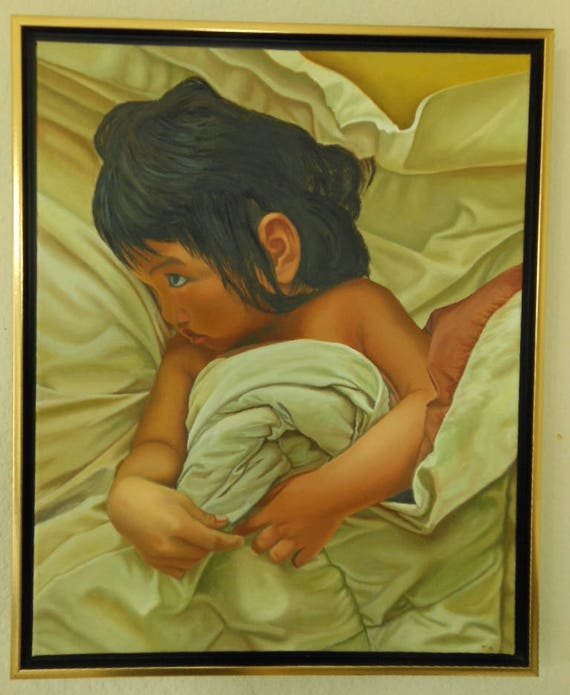 Why Me, oil on linen, image size 16 x 20 inches, framed