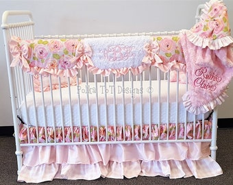 Cottage/Shabby Chic Floral Baby Girl Bedding :  Ruthie Claire