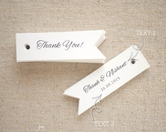 Thank You Gift Tags - Wedding Favor Tags -  Custom Gift Tags - Party Favor - Bridal Shower Tag - Baby Shower - Set of 40 (Item code: J544)