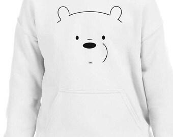 We Bare Bears Ice Bear Youth Hoodie Sz:S-XL