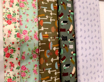Fabric half printed Rico Design