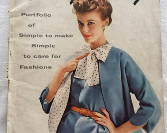 Vintage 50s Simplicity Sewing Pattern Magazine Brochure Catalog Spring 1954