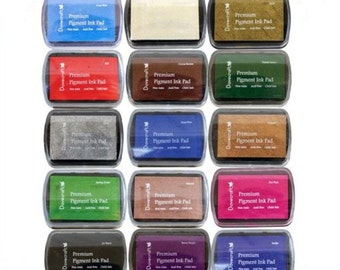 Pigment ink pads for stamping