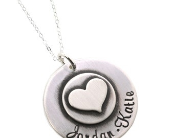 Sterling Silver Keepsake Necklace- Personalized Hand Stamped Jewelry