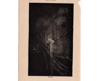 1882 NEBULA ANTIQUE LITHOGRAPH - original antique print - celestial astronomy - solar system - outer space galaxy super nova cosmology
