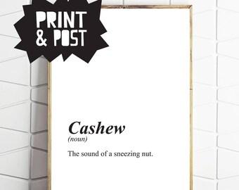 cashew art, cashew print, cashew poster, meaning art, meaning print, meaning poster